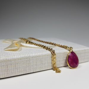 necklace with ruby silver N64 lavriostone