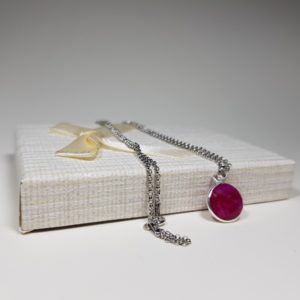 handmade ruby necklace with silver lavriostone