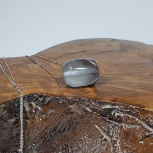 ασημένιο κολιέ με Φθορίτη βαρελάκι Ν86 lavriostone